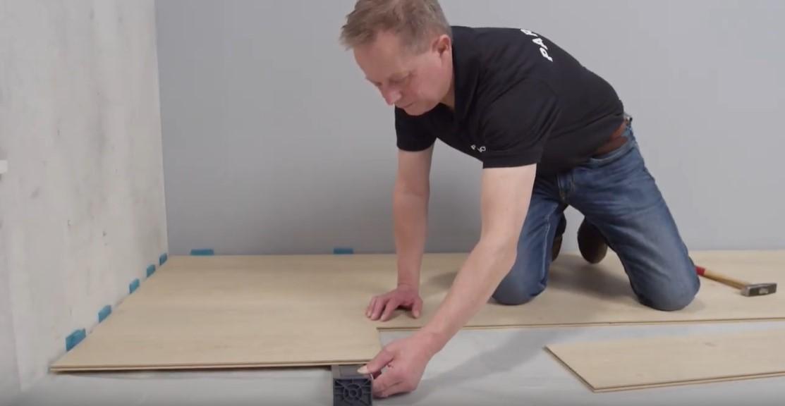 超耐磨木地板施工